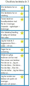 Checklista berättande text