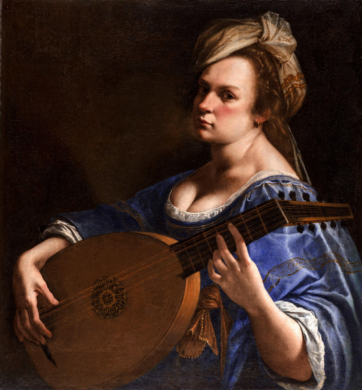 Artemisia Gentileschi / Артемизия Джентилески (1593-1653) - Autoritratto come suonatrice di liuto / Автопортрет в образе лютнистки (1615-1617)